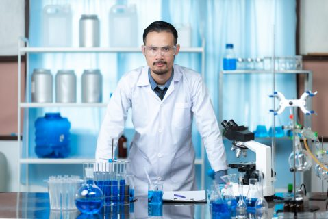 Portrait of a scientist in a chemical laboratory
